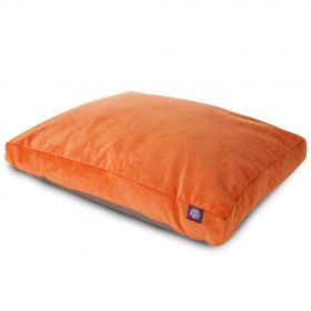 Orange Villa Collection Large Rectangle Pet Bed