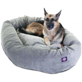 "52"" Vintage Villa Collection Micro-Velvet Bagel Bed By Majestic Pet Products"