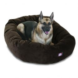 "52"" Storm Villa Collection Micro-Velvet Bagel Bed By Majestic Pet Products"