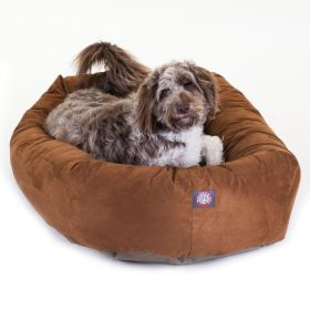 "52"" Rust Suede Bagel Dog Bed By Majestic Pet Products"