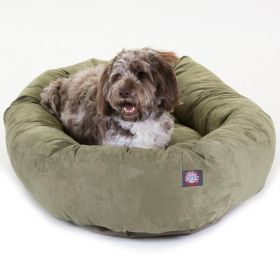"52"" Sage Suede Bagel Dog Bed By Majestic Pet Products"