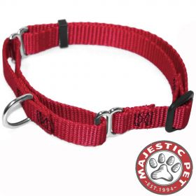 18in - 26in Martingale Red, 100-200 lbs Dog By Majestic Pet Products