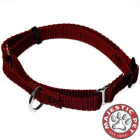 14in - 20in Martingale Burgundy, 40 - 120 lbs Dog By Majestic Pet Products