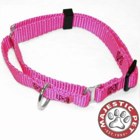 14in - 20in Martingale Pink, 40 - 120 lbs Dog By Majestic Pet Products