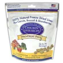Stewart Pro-Treat Plus Chicken Liver with Carrots, Broccoli, and Strawberries 1.65 oz