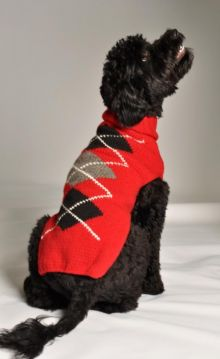 Red Argyle Sweater