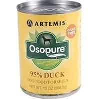 Osopure Grain Free Canned Dog Food - 95% Duck