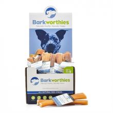 "Barkworthies American - 12"" Double Cut, Odor Free Bully Stick"