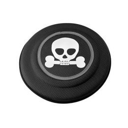 Black Skull Flying Disk Dog Toy - Large