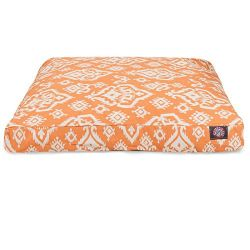 Peach Raja Large Rectangle Pet Bed