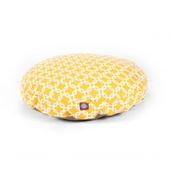 Yellow Links Small Round Pet Bed