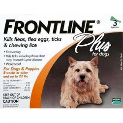 Flea Control Plus for Dogs And Puppies (Pack Size: 3 Pack, Dog Size: 11-20 lbs)
