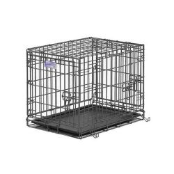 "Select Triple Door Dog Crate (Color: Black, Size: 24"" x 18"" x 19"")"