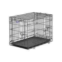 "Select Triple Door Dog Crate (Color: Black, Size: 30"" x 19"" x 21"")"