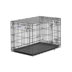 "Select Triple Door Dog Crate (Color: Black, Size: 36"" x 23"" x 25"")"
