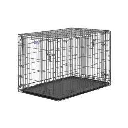 "Select Triple Door Dog Crate (Color: Black, Size: 42"" x 28"" x 30"")"