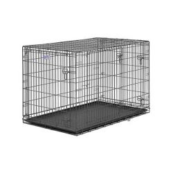 "Select Triple Door Dog Crate (Color: Black, Size: 48"" x 30"" x 33"")"