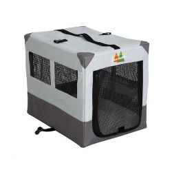 "Canine Camper Sportable Crate (Color: Gray, Size: 24"" x 17.5"" x 20.25"")"