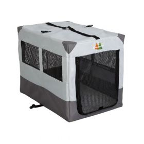 "Canine Camper Sportable Crate (Color: Gray, Size: 31"" x 21.50"" x 24"")"