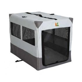 "Canine Camper Sportable Crate (Color: Gray, Size: 36"" x 25.50"" x 28"")"