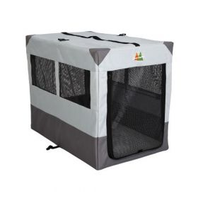 "Canine Camper Sportable Crate (Color: Gray, Size: 42"" x 26"" x 32"")"