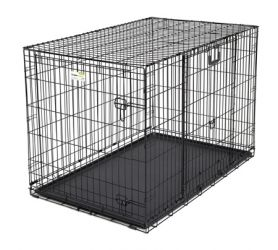 "Ovation Double Door Crate with Up and Away Door (Color: Black, Size: 37.25"" x 23"" x 25"")"