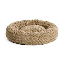 "Quiet Time Deluxe Bagel Dog Bed (Color: Taupe, Size: 28.5"" x 28.5"" x 8"")"