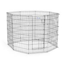 "Life Stages Pet Exercise Pen with Split Door (Color: Black, Size: 24"" x 48"")"