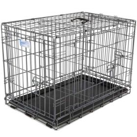 "Ultimate Pro Triple Door Dog Crate (Color: Black, Size: 43"" x 28.50"" x 31.50"")"