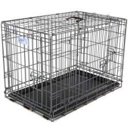 "Ultimate Pro Triple Door Dog Crate (Color: Black, Size: 49"" x 30"" x 34.50"")"