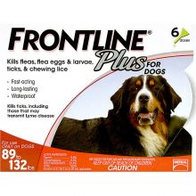 Flea Control Plus for Dogs And Puppies (Pack Size: 6 Pack, Dog Size: 89-132 lbs)