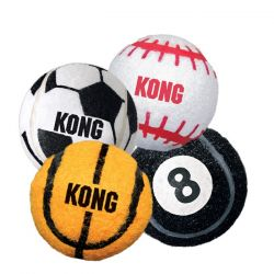 Sport Balls Dog Toy 2 pack (Color: Assorted Sports, Size: Small)
