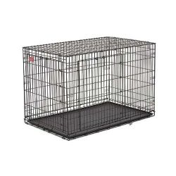 "Life Stage A.C.E. Double Door Dog Crate (Color: Black, Size: 49.00"" x 30.25"" x 32.50"")"