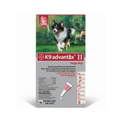 Flea and Tick Control for Dogs (Dog Size: 20-55 lbs, Month Supply: 4 Months)