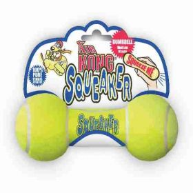 Air Squeaker Dumbbell Dog Toy (Color: Yellow, Size: Medium)