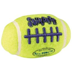 Air Squeaker Football Dog Toy (Color: Yellow, Size: Small)