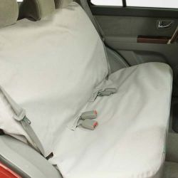 "Mid to Large Bench Car Seat Protector (Color: Gray, Size: 54.50"" x 55"" x 0.15"")"