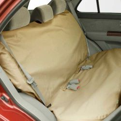 "Mid to Large Bench Car Seat Protector (Color: Tan, Size: 54.50"" x 55"" x 0.15"")"