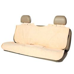 "Rear Seat Poncho Protector Deluxe (Color: Tan, Size: 56"" x 49.25"" x 0.05"")"