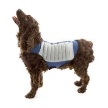 Dog Cooling Jacket (Color: Blue/Gray, Size: Small)