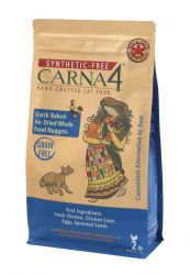 Carna4 Synthetic Free Hand Crafted Chicken Cat Food (Package Size: four (4) pounds)
