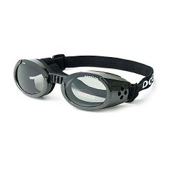 ILS Dog Sunglasses (Color: Black / Smoke, Size: Small)