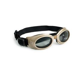 Originalz Dog Sunglasses (Color: Chrome / Smoke, Size: Medium)