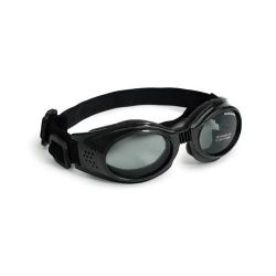 Originalz Dog Sunglasses (Color: Black / Smoke, Size: Small)
