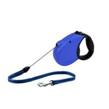 Freedom Softgrip Retractable Cord Leash 16 feet up to 26 lbs (Color: Blue, Size: Medium (Up to 44 lbs.))