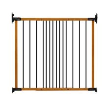 "Designer Angle Mount Wall Mounted Safeway Pet Gate (Color: Oak, Size: 28"" - 42.5"" x 31"")"