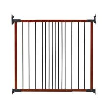 "Designer Angle Mount Wall Mounted Safeway Pet Gate (Color: Cherry, Size: 28"" - 42.5"" x 31"")"