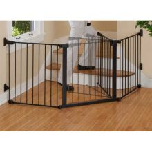 "Auto Close ConfigureGate Pet Gate (Color: Black, Size: 84"" x 31"")"