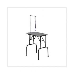 "Plywood Grooming Table with Arm (Color: Black, Size: 36"" x 24"" x 30"")"