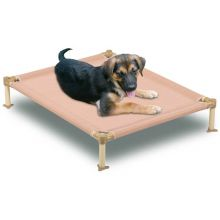 Dog Cool Cot (Color: Tan, Size: Large)